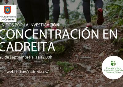 25  DE SEPTIEMBRE concentración contra el cáncer en Cadreita